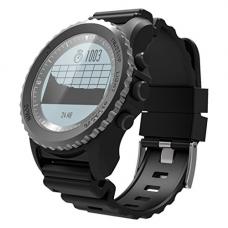 Egal S968 Bluetooth Smart Watch IP68 Waterproof Support Air Pressure GPS Heart Rate Monitor Smart Bracelet Fitness Tracker Wristband black