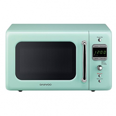 Daewoo KOR-7LREM Retro Microwave Oven, 0.7 cu. ft., 700W, Mint Green