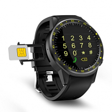 Kanzd New GPS Watch Bluetooth Sport Smart Watch Fitness Tracker Front Camera Heart Rate Monitor (Black)
