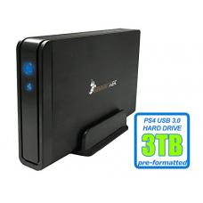 HornetTek Viper 3TB (3000GB) 7200RPM 64MB Cache USB 3.0 External PS4 Hard Drive (PS4 Pre-Formatted) - PS4, PS4 Slim & PS4 Pro