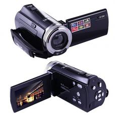 KINGEAR PL004 Mini DV C8 16MP High Definition Digital Video Camcorder DVR 2.7'' TFT LCD 16x Zoom Hd Video Recorder Camera 1280 x 720p Digital Video Camcorder(Black)